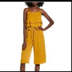 One Clothing Mustard Yellow Wide Leg Jumpsuit